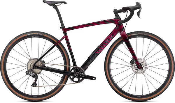 Specialized Diverge Expert Carbon Color: Gloss Raspberry/Redwood/Black