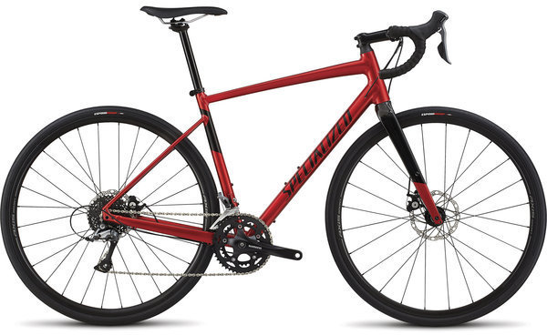 Specialized Men's Diverge E5 Color: Gloss Candy Red/Tarmac Black