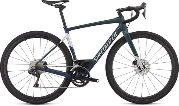 Specialized Men's Diverge Pro Color: Satin Cav Tint Green/Blue Crystal Flake/Lt Silver