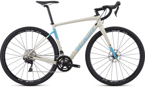 Specialized Men's Diverge Sport Color: Gloss White Mountains/Nice Blue