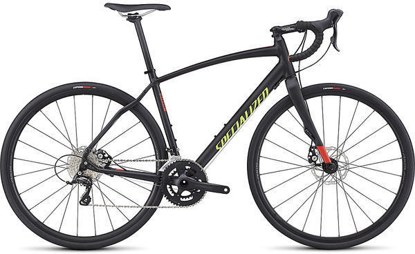 Specialized Diverge Sport A1 Color: Satin Black/Rocket Red/Hyper