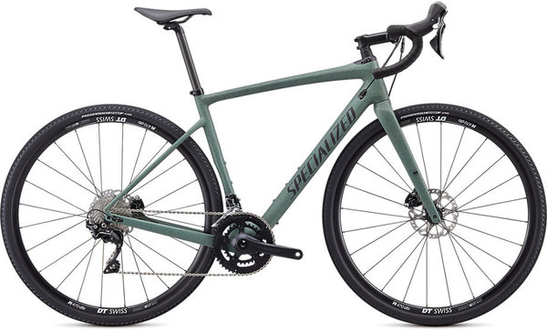 Specialized Diverge Sport Carbon Color: Satin Sage Green/Black/Speckle