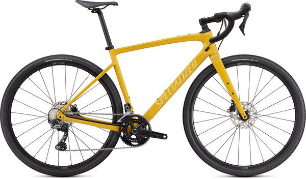 Specialized Diverge Sport Carbon Color: Gloss Brassy Yellow/Sunset Yellow