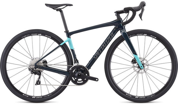 Specialized Women's Diverge Sport Color: Gloss Teal Tint/Acid Mint/Black