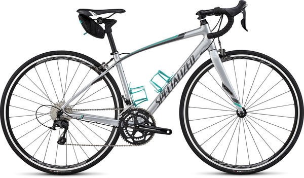 Specialized Dolce Comp EQ- Women's Color: Gloss Silver/Charcoal/Emerald/White