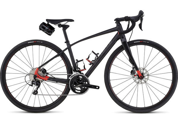 Specialized Dolce Comp Evo- Women's Color: Satin Metallic Black/Rocket Red/Reflective Silver