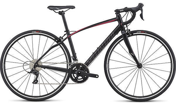 Specialized Dolce Sport Color: Satin Tarmac Black/Rainbow Flake Pink/WarmCharcoal