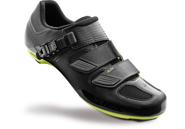 Specialized Elite Road Shoes Color: Black/Hyper Green Reflective