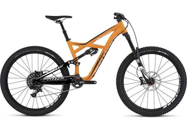 Specialized Enduro Elite 650B Color: Satin Gallardo Orange/Black/White