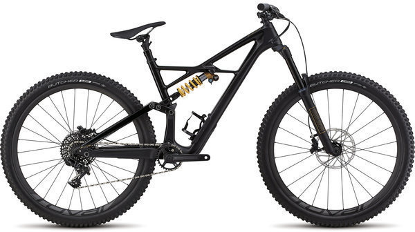 Specialized Enduro Coil 29/6Fattie Color: Satin Gloss Tarmac Black/Tarmac Black/Gold