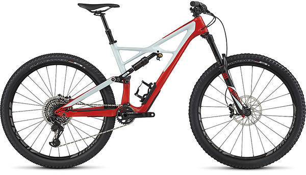 Specialized Enduro Pro Carbon 29 6Fattie Color: Gloss Rocket Red/Baby Blue/Black