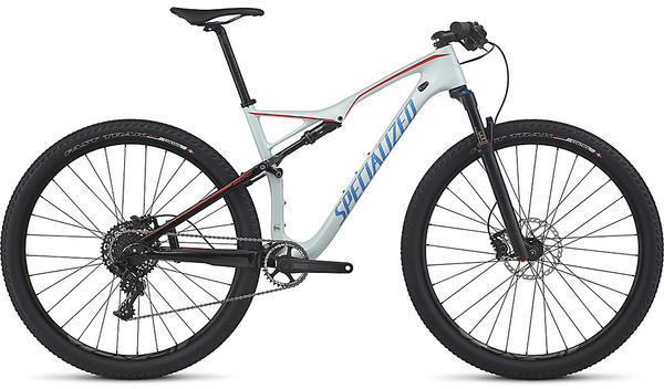Specialized Epic FSR Comp Carbon World Cup Color: Gloss Satin Baby Blue/Neon Blue/Nordic Red