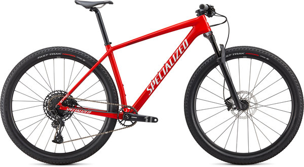 Specialized Epic Hardtail Color: Gloss Flo Red/Metallic White Silver/Tarmac Black
