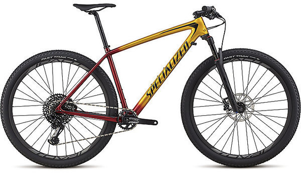 Specialized Men's Epic Hardtail Expert Color: Gloss Gold/Candy Red/Cosmic Black