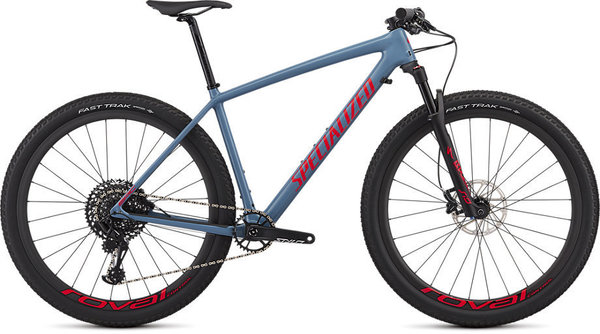 Specialized Epic Hardtail Expert Color: Gloss Storm Grey/Rocket Red