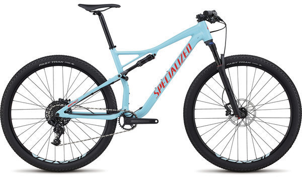 Specialized Men's Epic Comp Color: Gloss Light Blue/Rocket Red