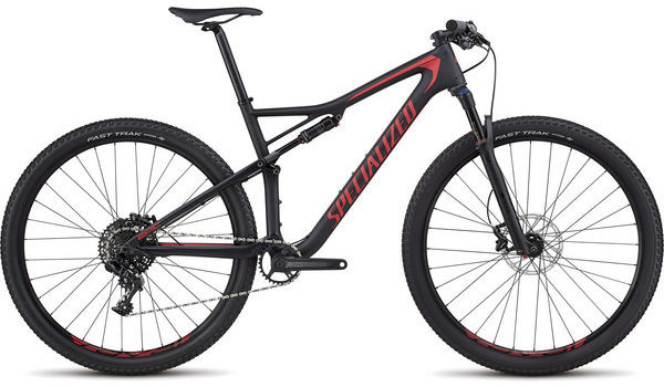 Specialized Men's Epic Comp Carbon Color: Satin Black/Flo Red