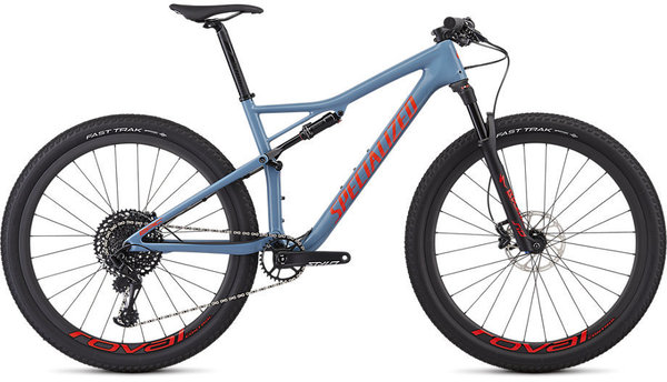 Specialized Men's Epic Expert Color: Gloss Storm Grey/Rocket Red