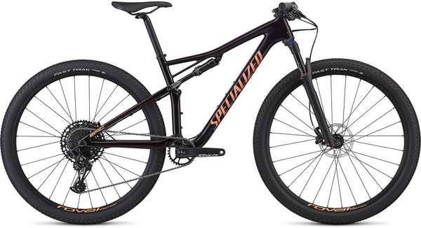 Specialized Women's Epic Comp Carbon (4/30) Color: Gloss Satin Purple Tint/Red Tint/Acid Lava