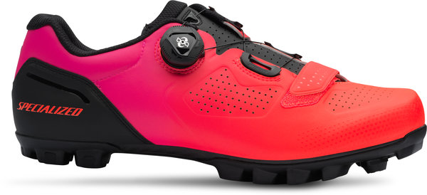 Specialized Expert XC Mountain Bike Shoes Color: Black/Acid Lava