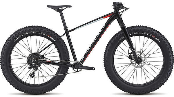 Specialized Fatboy Color: Gloss Black/Baby Blue/Rocket Red
