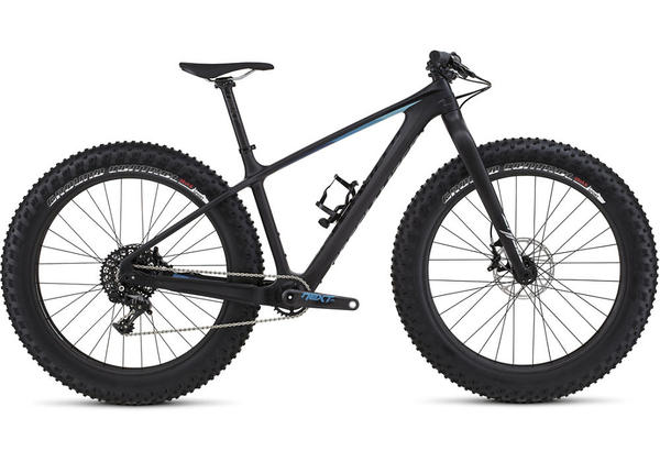 Specialized Fatboy Expert Carbon Color: Satin Carbon/Black/Blue Fade