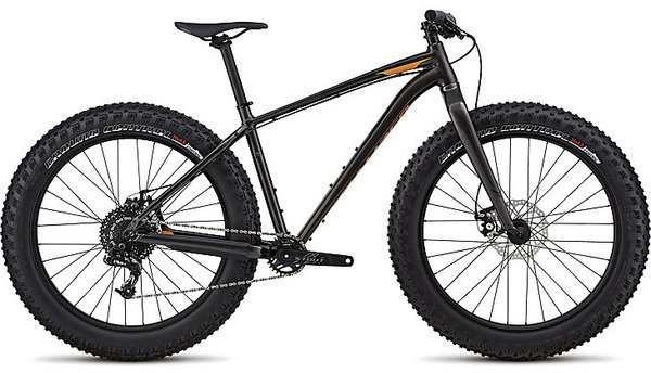 Specialized Fatboy SE Color: Gloss Warm Charcoal/Black/Gallardo Orange