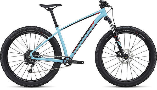 Specialized Fuse 6Fattie Color: Gloss Light Blue/Black/Nordic Red