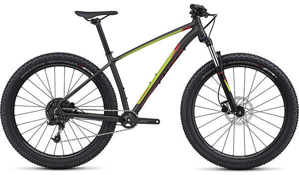Specialized Fuse 6Fattie Color: Satin Warm Charcoal/Hyper/Nordic Red