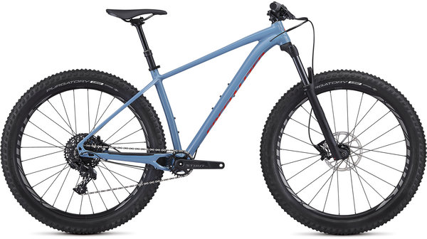 Specialized Fuse Comp 27.5+ Color: Gloss Storm Grey/Rocket Red