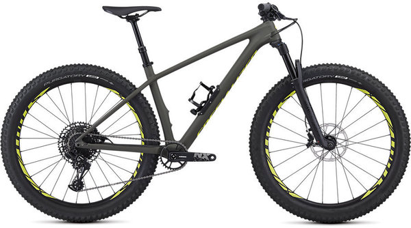 Specialized Fuse Comp Carbon 27.5+ Color: Satin Gloss Oak/Team Yellow