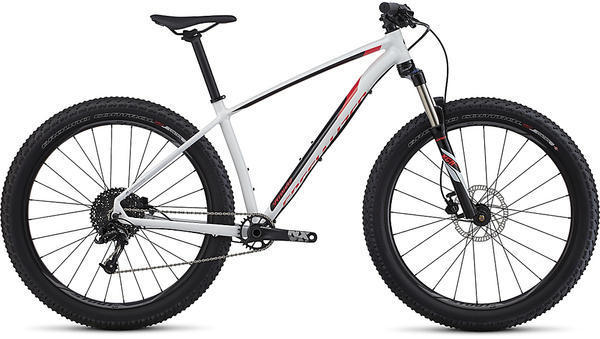 Specialized Fuse Sport 6Fattie Color: Gloss White/Black/Nordic Red
