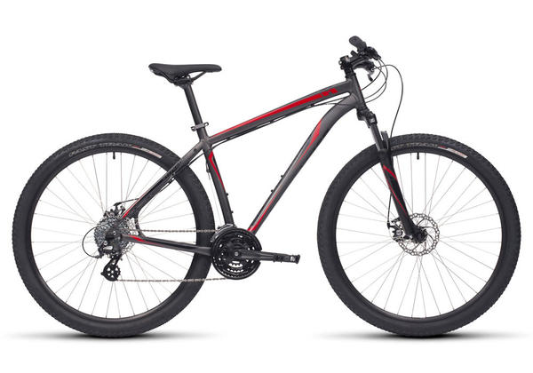 Specialized Hardrock Disc 29 Color: Satin Gloss/Charcoal/Black/Red