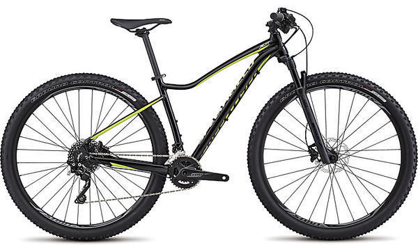 Specialized Jett Pro 29 Color: Gloss Tarmac Black/Hyper Green/Powder Green