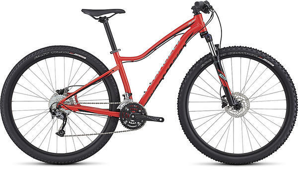Specialized Jett Sport 29 - Women's Color: Gloss Nordic Red/Tarmac Black/Light Turquoise