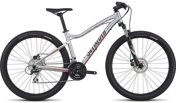 Specialized Jynx 650b - Women's Color: Gloss Flake Silver/Deep Indigo/Coral