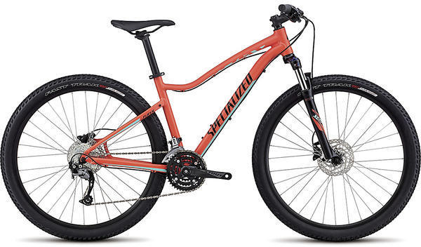 Specialized Jynx Sport 650b - Women's Color: Satin Coral/Tarmac Black/Light Turquoise