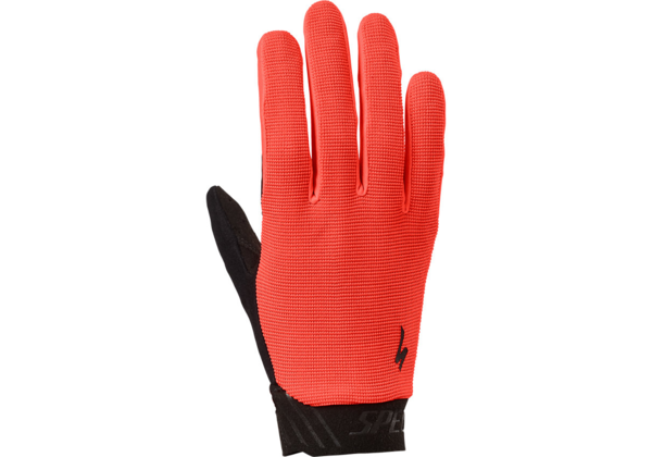Specialized Kids Lodown Long Finger Gloves Color: Acid Lava