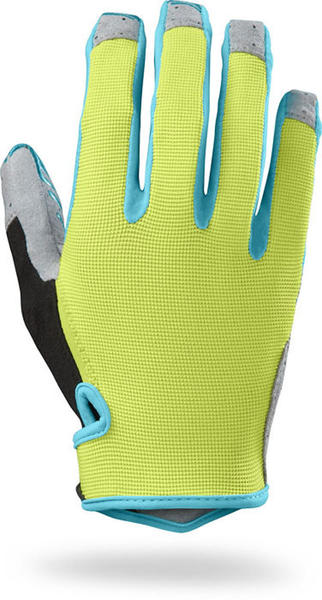 Specialized Women's LoDown Gloves Color: Hyper/Turquoise