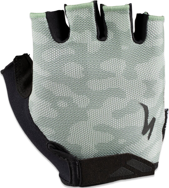Specialized Men's Body Geometry Sport Gel Short Finger Gloves Color: Sage/Spruce Terrain