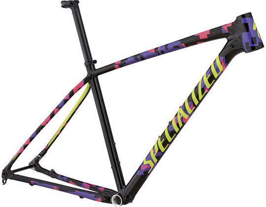 Specialized Men's Chisel Frameset Color: Gloss Black/Acid Pink/Acid Purple/Hyper