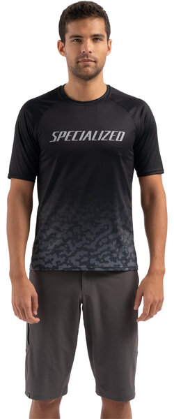 Specialized Men's Enduro Air Short Sleeve Jersey Color: Black/Charcoal Terrain
