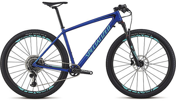 Specialized Men's Epic Hardtail Pro Color: Gloss Acid Blue/Acid Mint/Black