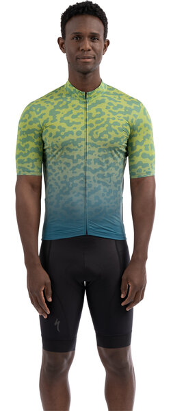 Specialized Men's RBX Jersey w/SWAT Color: Hyper Green/Dusty Turquoise Terrain