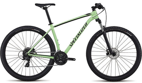 Specialized Men's Rockhopper Color: Gloss Acid Kiwi/Black/Charcoal