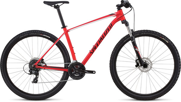 Specialized Men's Rockhopper Color: Gloss Flo Red/Black/White