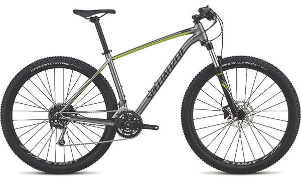 Specialized Men's Rockhopper Expert Color: Gloss Charcoal/Black/Hyper