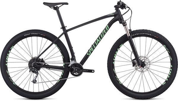 Specialized Men's Rockhopper Expert Color: Gloss Black/Acid Kiwi/Charcoal