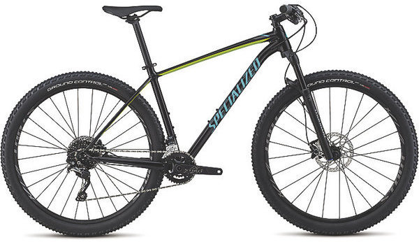 Specialized Men's Rockhopper Pro Color: Gloss Tarmac Black/Hyper/Acid Mint