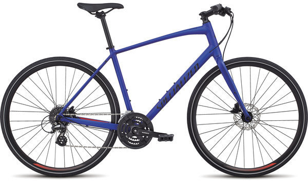 Specialized Men's Sirrus Alloy Disc Color: Acid Blue/Rocket Red/Black Reflective